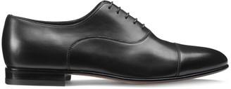 Santoni Cap Toe Leather Oxford Shoes