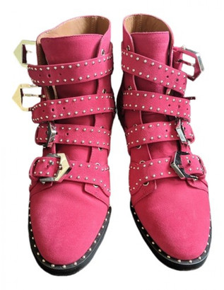 Givenchy Pink Suede Ankle boots