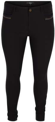 Zizzi Fitted High Waist Stretch Trousers
