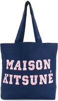 MAISON KITSUNÉ logo print shopper bag