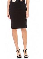 Calvin Klein Petites Scuba Crepe Suiting Pencil Skirt