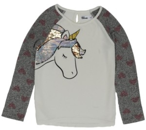Epic Threads Toddler Girls Long Sleeve Flip Sequin Unicorn Snit Top