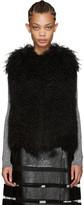 Yves Salomon Black Lamb Fur Vest