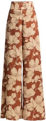 Alexis Haruna Floral Wide-Leg Pants
