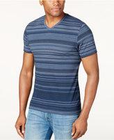 Alfani Striped V-Neck T-Shirt, Only at Macy's