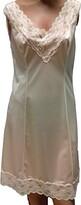 Thumbnail for your product : nuova co ba lingerie srl Charmeuse 100% Polyamide Satin Petticoat Cream and Black - White - UK 14