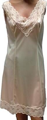 nuova co ba lingerie srl Charmeuse 100% Polyamide Satin Petticoat Cream and Black - White - UK 14