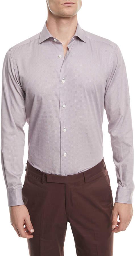 Ermenegildo Zegna Micro-Print Sport Shirt