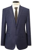 J. Lindeberg Super 140s Wool Comfort Stretch Pindot Slim Suit Jacket, Cornflower
