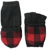 Plush Fleece - Lined Plaid Texting Mittens