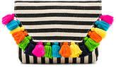 JADEtribe Valerie Fold Clutch Multi Tassel