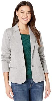 Pendleton Double Knit Blazer (Soft Grey/Taupe) Women's Coat