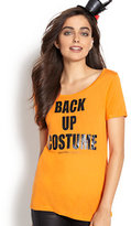 "New York & Co. ""Back Up Costume"" Graphic Logo T-Shirt"
