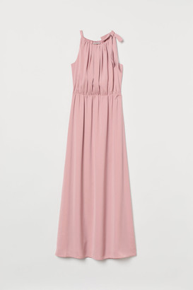 H&M Long Dress with Bow - Pink