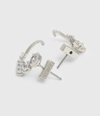 AllSaints Uli Silver Tone Cubic Zirconia Earrings