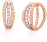 Kwiat Women's Beaded Multirow Diamond Hoop Earrings