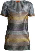Missoni V-neck striped sweater