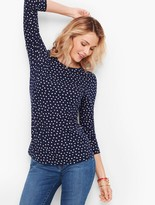 Talbots Long Sleeve Crewneck Tee - Dot