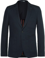Paul Smith Blue Slim-Fit Unstructured Linen and Cotton-Blend Blazer