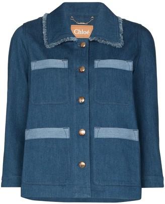 Chloé Contrast Detail Denim Jacket