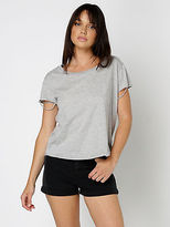 Abrand Salty Distressed Cap Sleeve T Shirt In Grey Marle size 10