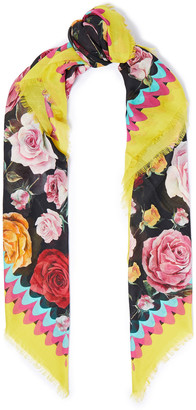 Dolce & Gabbana Printed Modal And Cashmere-blend Gauze Scarf