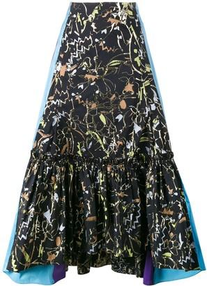 Peter Pilotto Jacquard Asymmetric Skirt
