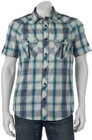 Helix Men's Plaid Button-Down Shirt