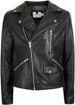 Topman Black Leather Biker Jacket