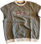 Ports 1961 Grey Cotton Top for Women