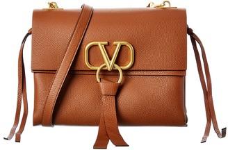 Valentino V-Ring Leather Shoulder Bag