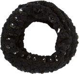 BCBGMAXAZRIA Crystal Crochet Loop Scarf