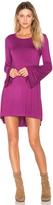 Michael Lauren Kipp Bell Sleeve Mini Dress