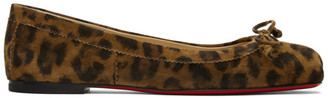 Christian Louboutin Brown Leopard Mamadrague Ballerina Flats