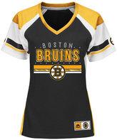 Majestic Women's Boston Bruins Ready to Win Shimmer Jersey