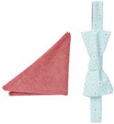 Original Penguin Paris Floral Bow Tie Pocket Square Hookrider - Set of 2