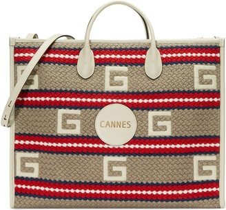 Gucci Cannes striped tote bag