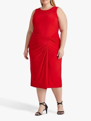 Ralph Lauren Ralph Curve Kava Sleeveless Knot Side Dress, Orient Red