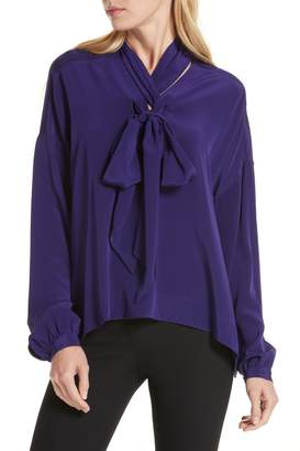 Diane von Furstenberg Jessamine Tie Neck Silk Blouse