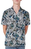 Topman Men's Floral Revere Collar Shirt