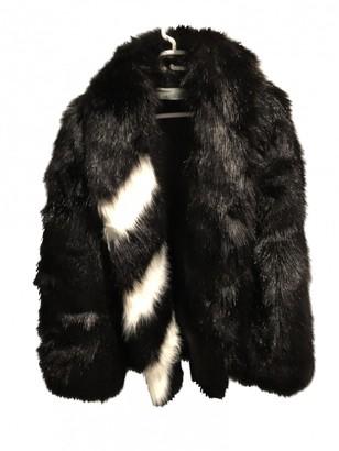 Off-White Black Faux fur Coats