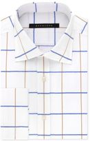 Sean John Men's Classic/Regular Big and Tall Fit White Print French Cuff Dress Shirt