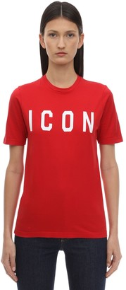 DSQUARED2 Printed Icon Cotton T-Shirt