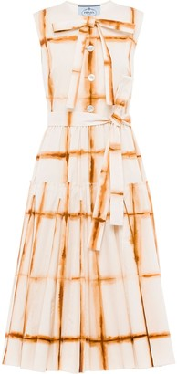 Prada Tie-Dye Check Shirt Dress