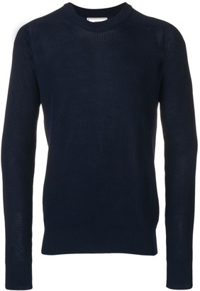 Ami Paris Fisherman Rib Crewneck Sweater