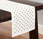 Pottery Barn Polka Dot Embroidered Runner