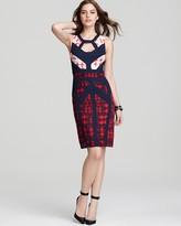BCBGMAXAZRIA Printed Dress - Sleeveless Cutout