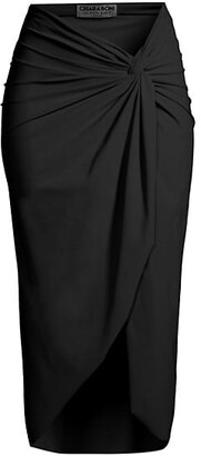 Chiara Boni Aza Twist Coverup Skirt