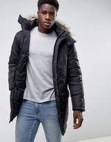 French Connection Parka With Faux Fur Hood