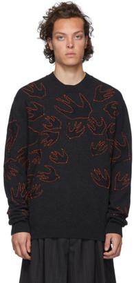 McQ Grey Swallow Knit Sweater